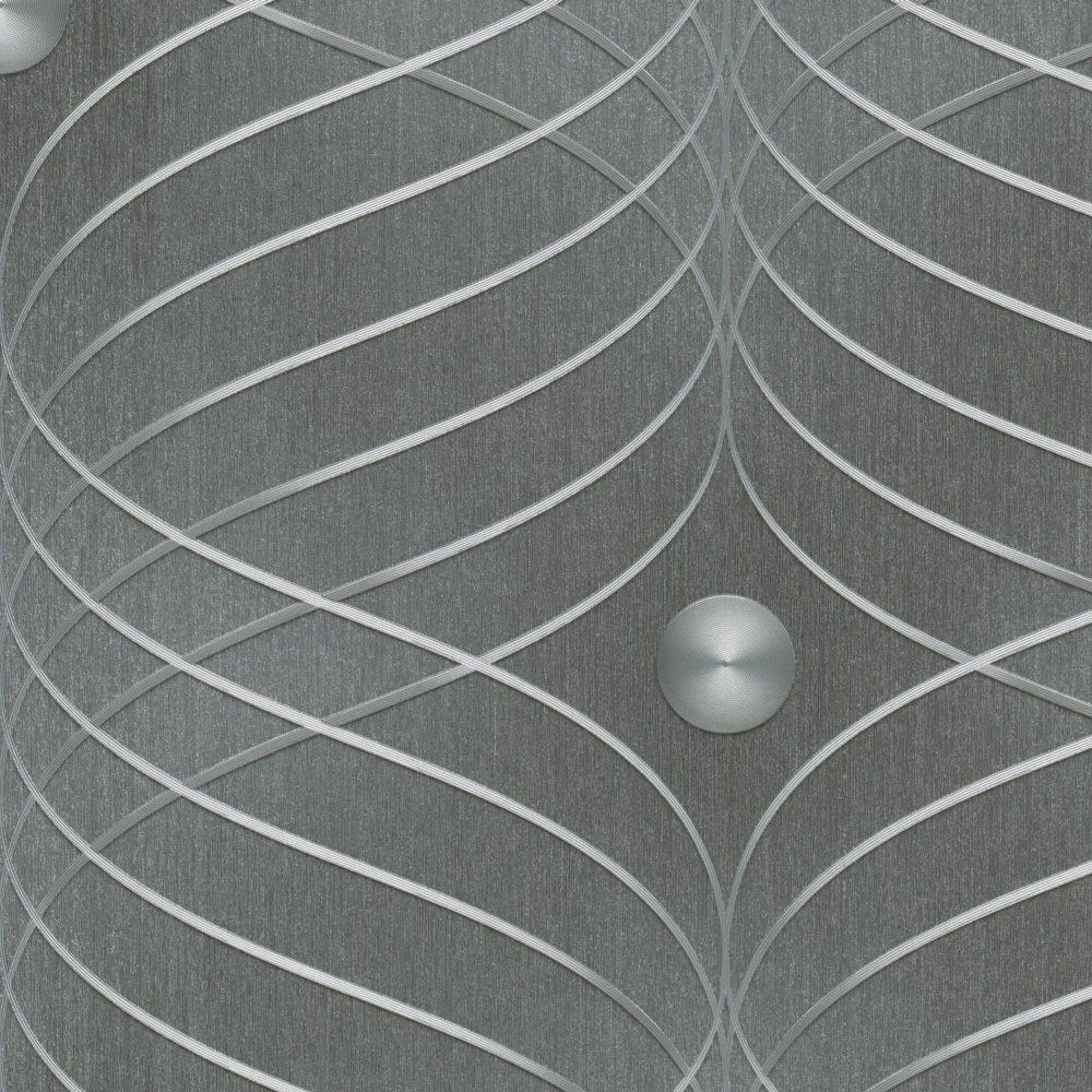 Marburg 56332 - Papel pintado, diseñ o Ondas Brillo 3D, color gris diseño Ondas Brillo 3D