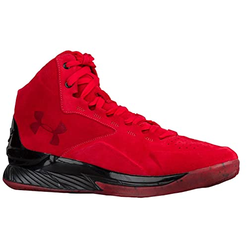 24a4a2fea37f2 Under Armour Curry 1 Lux Mid Red/Black Shoes (14): Amazon.ca: Shoes ...