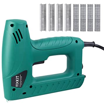 Fixkit Electric Staple Brad Nail Gun Hand Tacker Flooring Framing