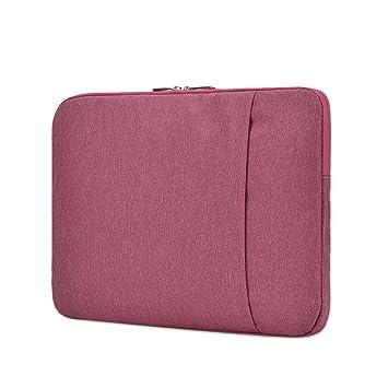 Jia Hu - 1 funda unisex para ordenador portátil, maletín, cartera, tableta, bolsa de viaje, escuela, oficina, color rosa rojo: Amazon.es: Oficina y ...