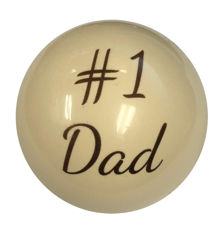 D & LビリヤードカスタムNumber One Dad父の日お父さんや夫のプールでキューボールの選手 B07D7JCV81