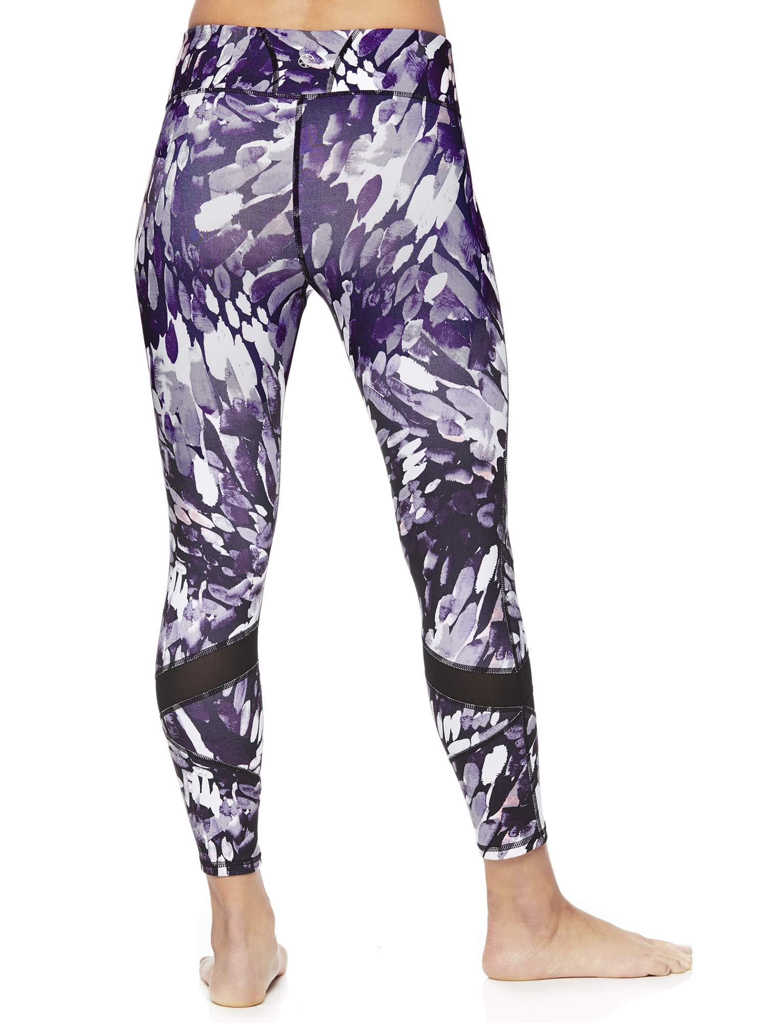 Gaiam Women's Capri Yoga Pants - Performance Spandex Compression Legging - Black Dawn Print, X-Small