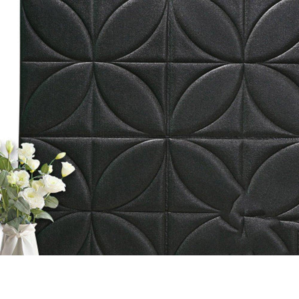 YETUGE 壁紙 防音シート レンガ 壁紙 インテリア シール 70cm×70cm ウォールステッカー 革製 軽量 壁紙シール アクセントクロス ウォールシール はがせる 壁シール B07BSHCLNN 二十枚|ブラック ブラック 二十枚