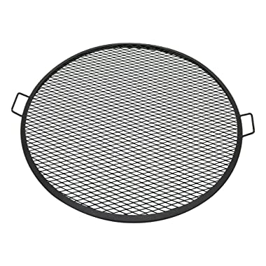 Sunnydaze X-Marks Fire Pit Cooking Grill Grate, Outdoor Round BBQ Campfire Grill, Camping Cookware, 36 Inch