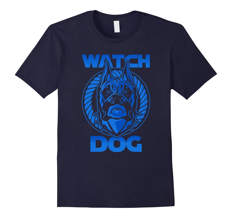 Blue Watchdog Dog Lover Cool Graphic Tshirt-ANZ