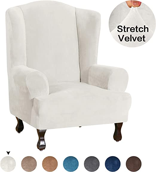 Amazon Com Turquoize Wing Chair Slipcover Velvet Wingback Chair