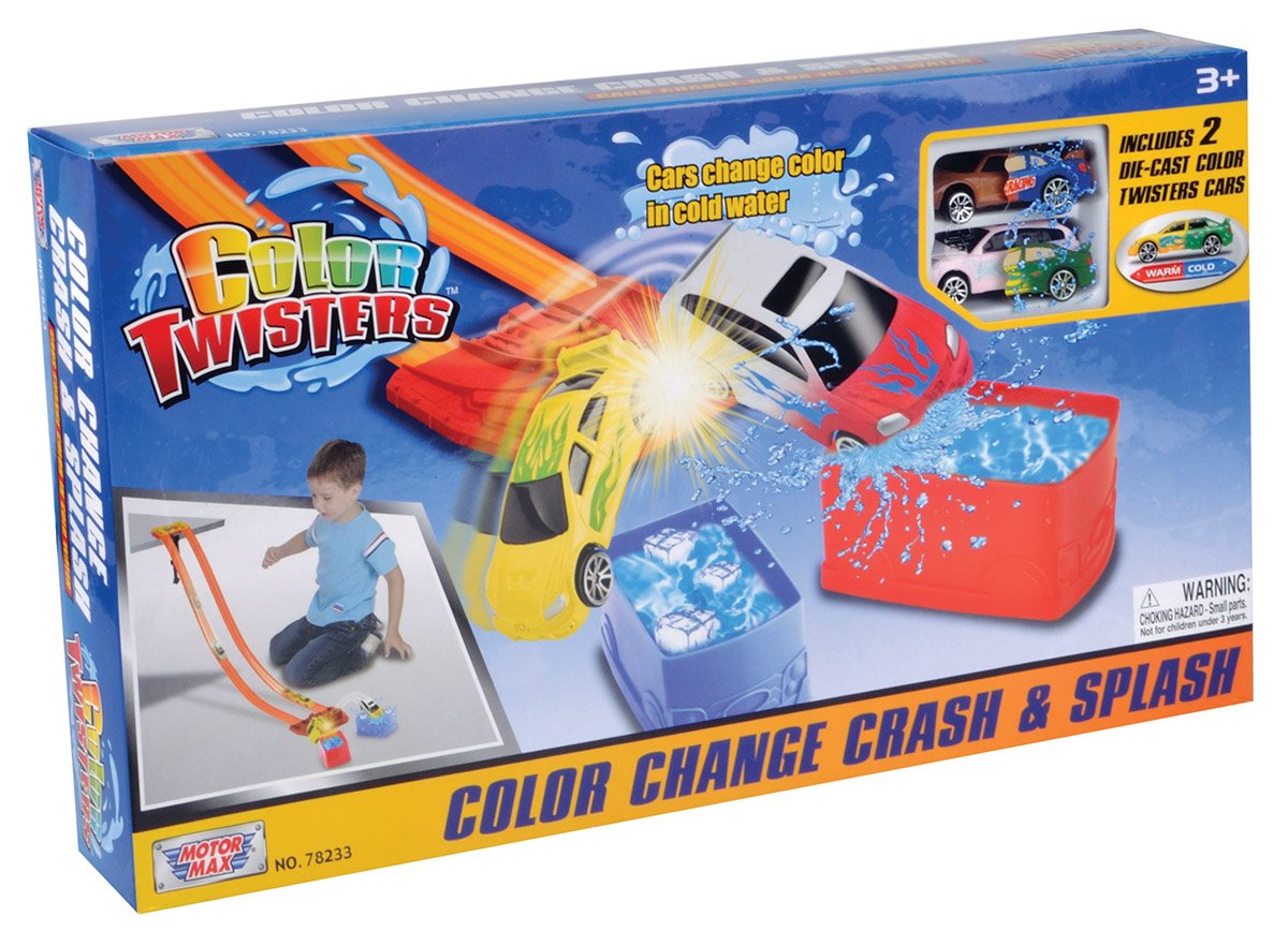 Motormax Twisters Colour Change Crash and Splash Set 78233