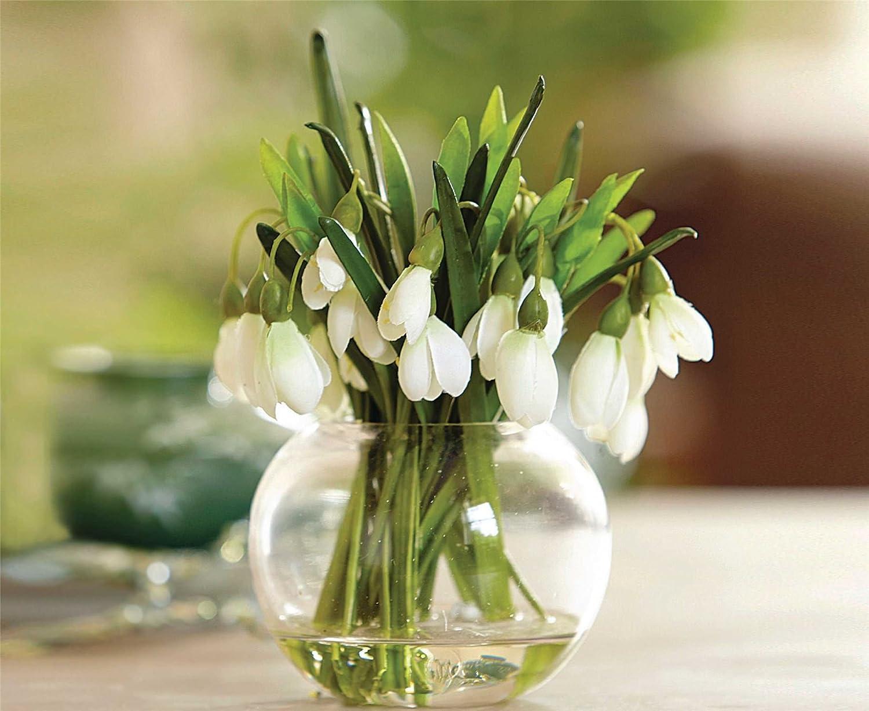 bloom snowdrop arrangement artificial flower spring decoration plant