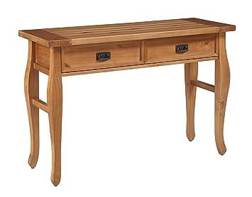 Amazoncom Linon Santa Fe Console Table Antique Finish Kitchen