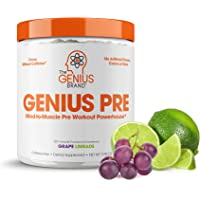 Genius Pre Workout – All Natural Nootropic Preworkout Powder & Caffeine-Free Nitric Oxide Booster with Beta Alanine and…