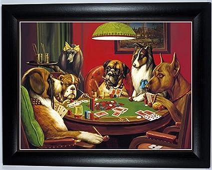 3d Imagen De Perros En Juego Snooker Y Póquer Varias Razas 3d