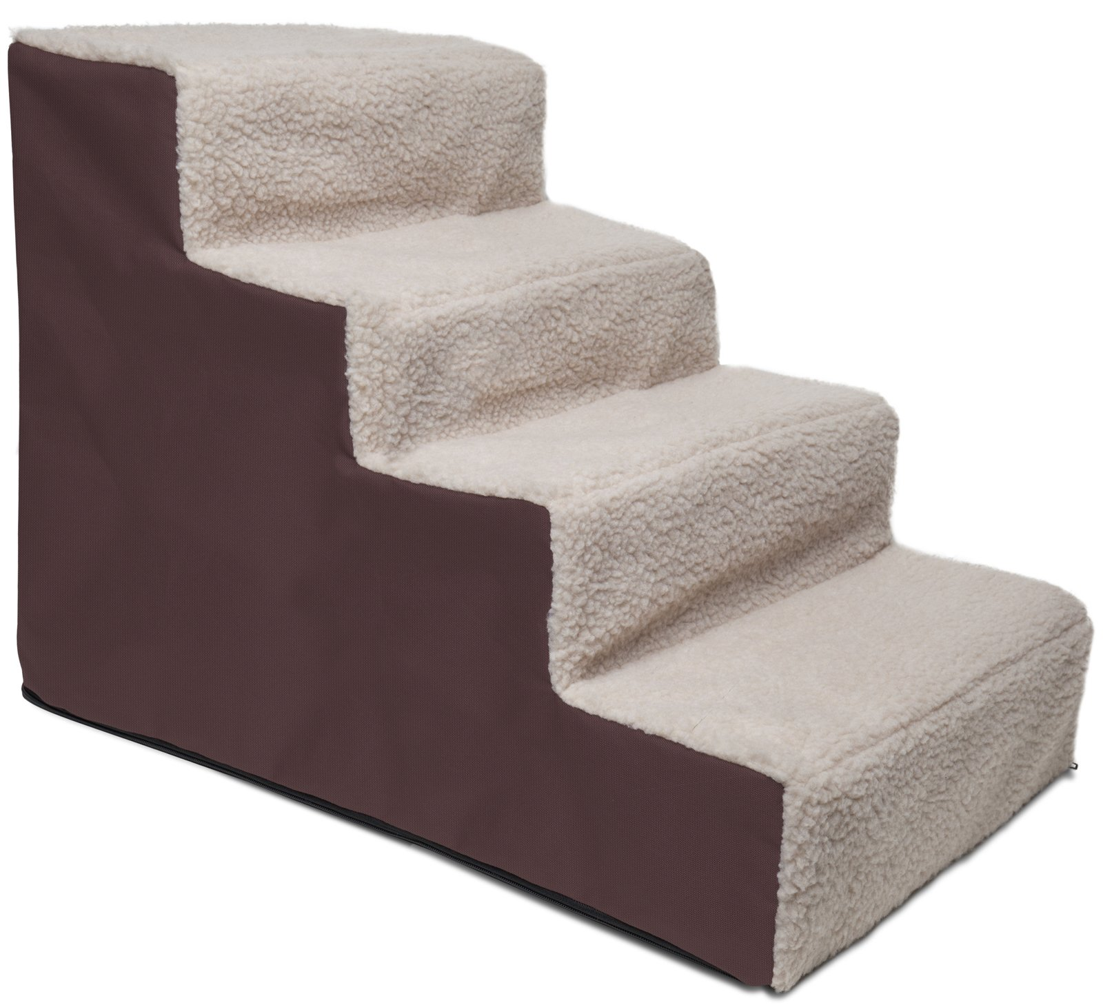 Paws & Pals Dog Stairs to get on High Bed for Cat and Pet Steps at Home or Portable Travel Up to 175 lbs - Brown by Paws & Pals