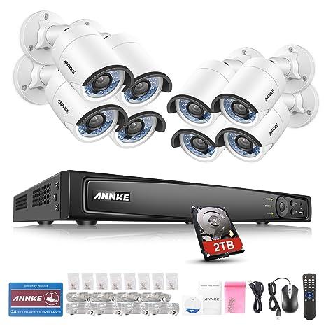 ANNKE Kit Sistema de vigilancia 4MP 8 Cámaras de Seguridad Metal (H.264+