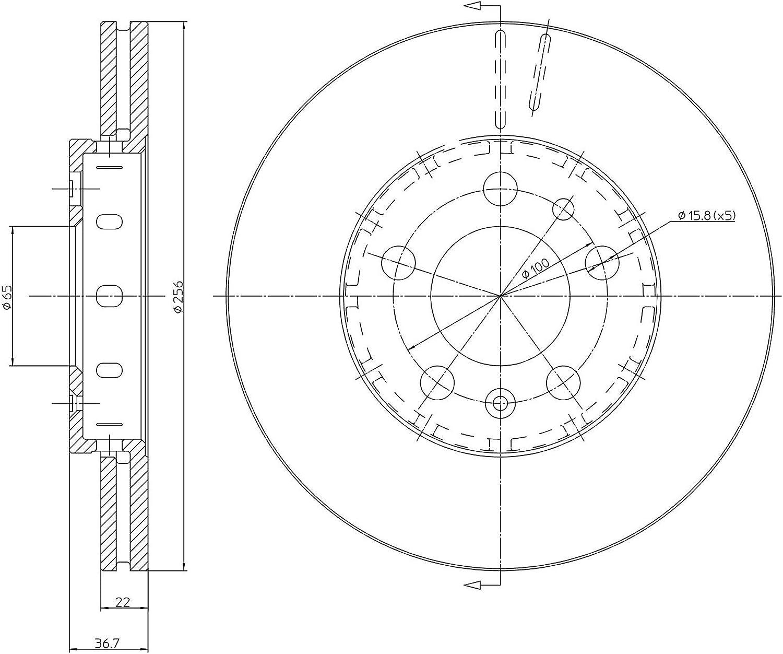 metelligroup 23-0390C Disque de Frein Recouvert Kit Compos/é de 2 Disques de Frein Pi/èces de Rechange Pour Voitures Certificat ECE R90