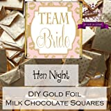 Personalised Hen Party Milk Chocolate Neapolitan Favours Army Squad Pack of 10