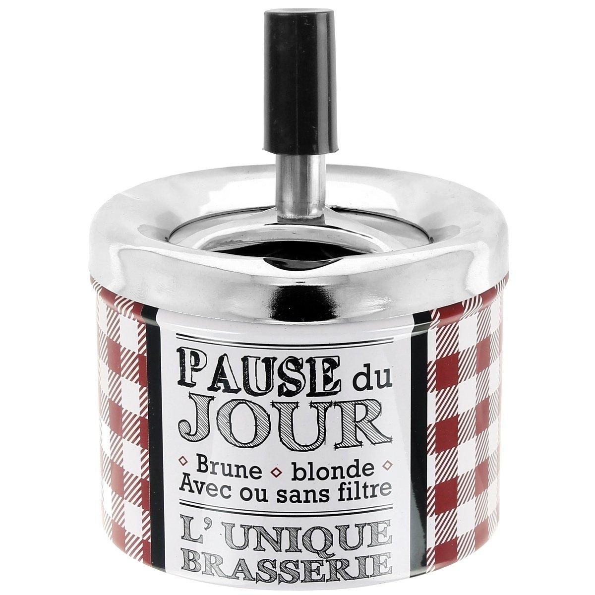 Promobo Cendrier Push Inscription Pause du Jour Thè me Bistrot Vichy