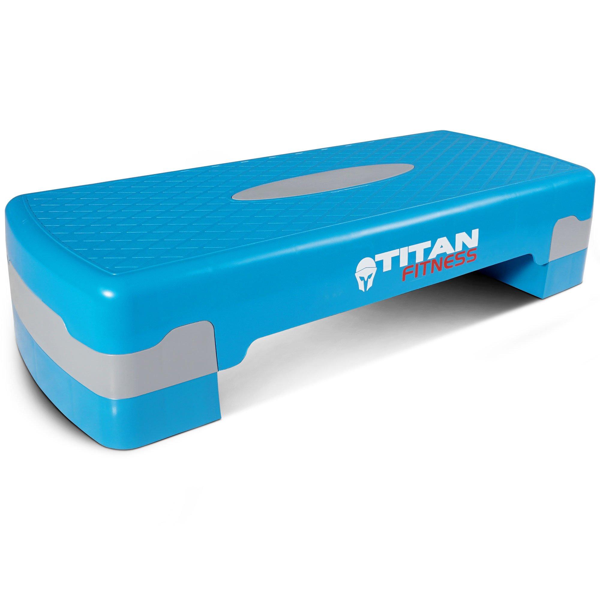Titan Fitness Aerobic Step 27'' Stepper w/Risers Cardio Adjust 4'' - 6'' Exercise
