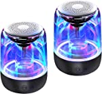 Portable Bluetooth Speaker, True Wireless Stereo Speakers, Crystal Clear Stereo Sound,