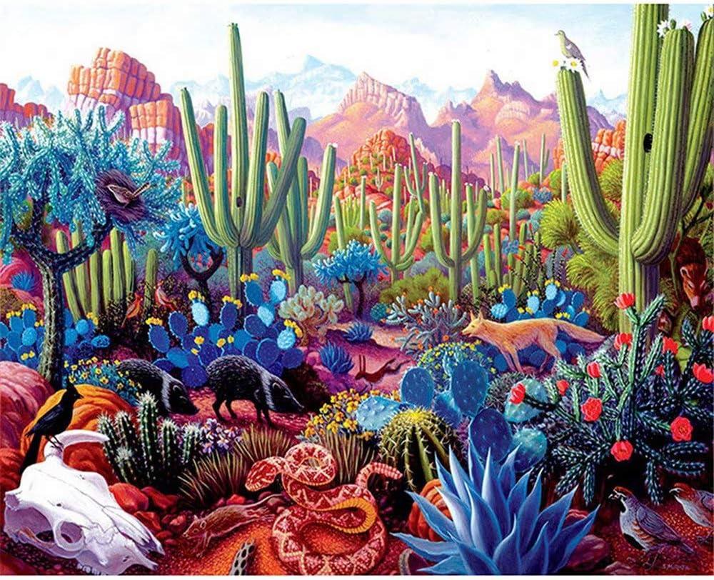 Cactus Magnet Mini Cactus Painting Cactus Birthday Gift Arizona Desert inspired alcohol ink painting of Cactus Silhouette