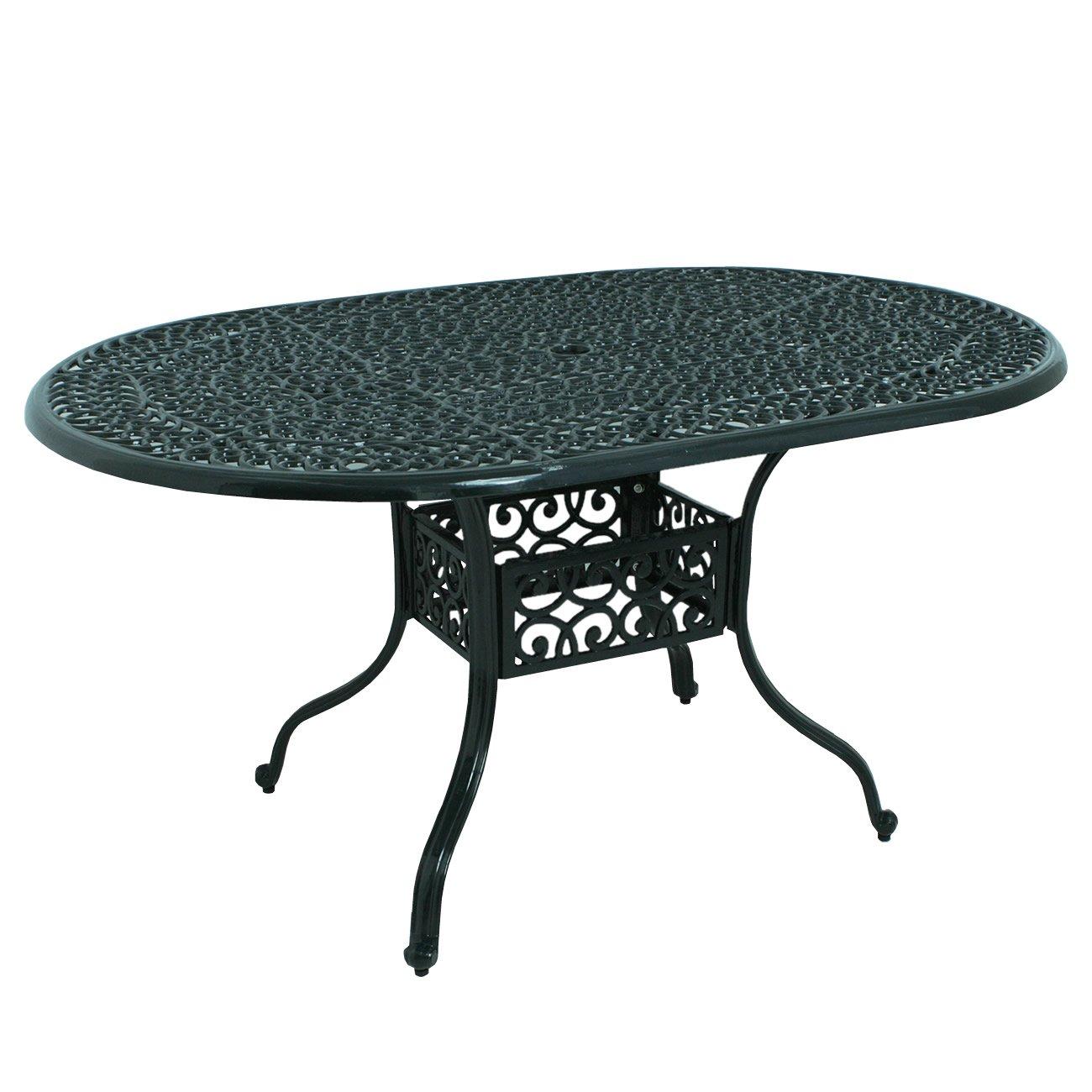 AHEART ガーデンテーブル ガーデンチェア アルミ 単品 イングリッシュガーデン SI 399 オーバルテーブル B07DMYGZ2D   オーバルテーブル