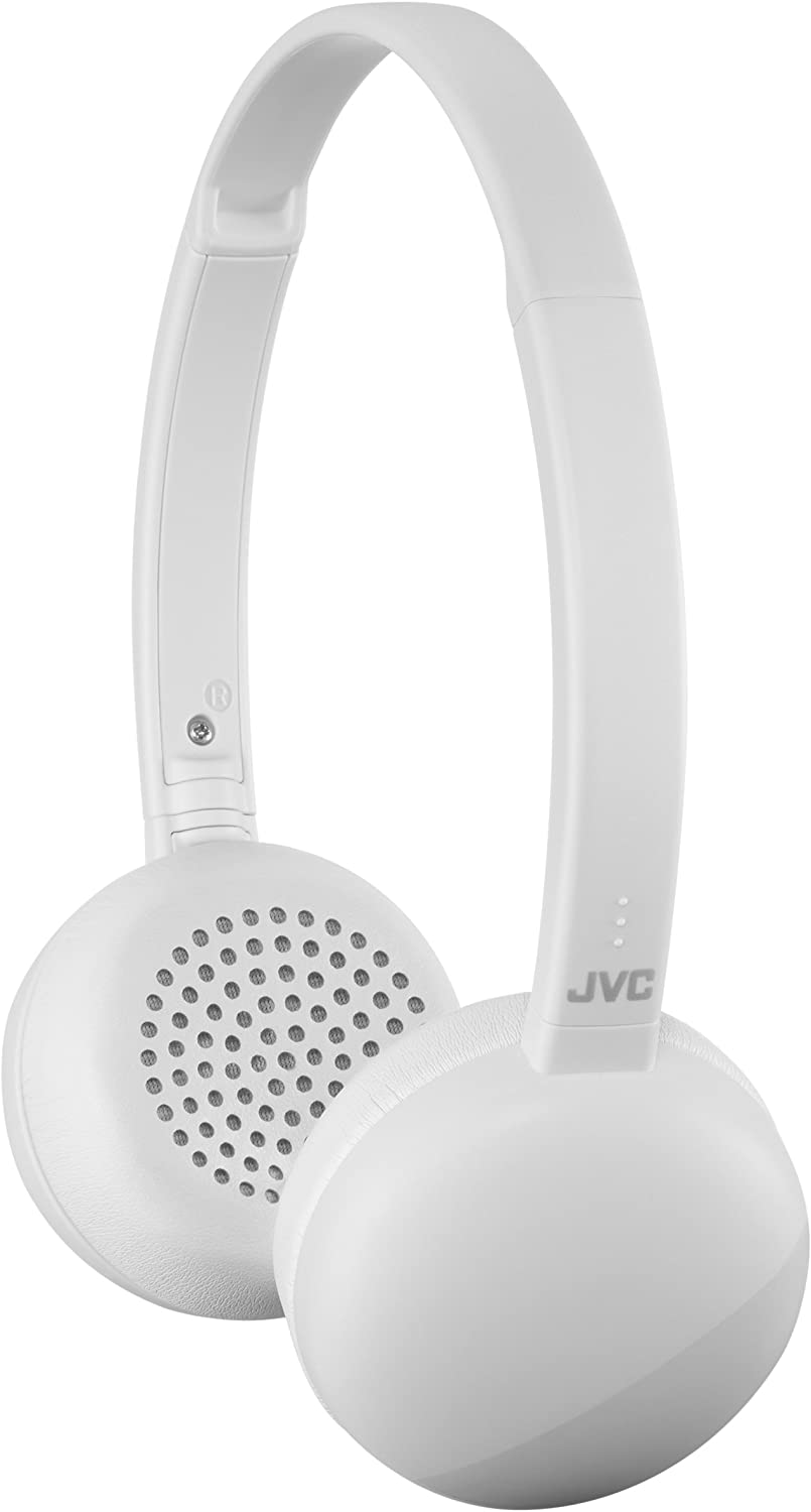 JVC HA-S20BT Flats Wireless Bluetooth On-Ear Headphone - White - HAS20BTH