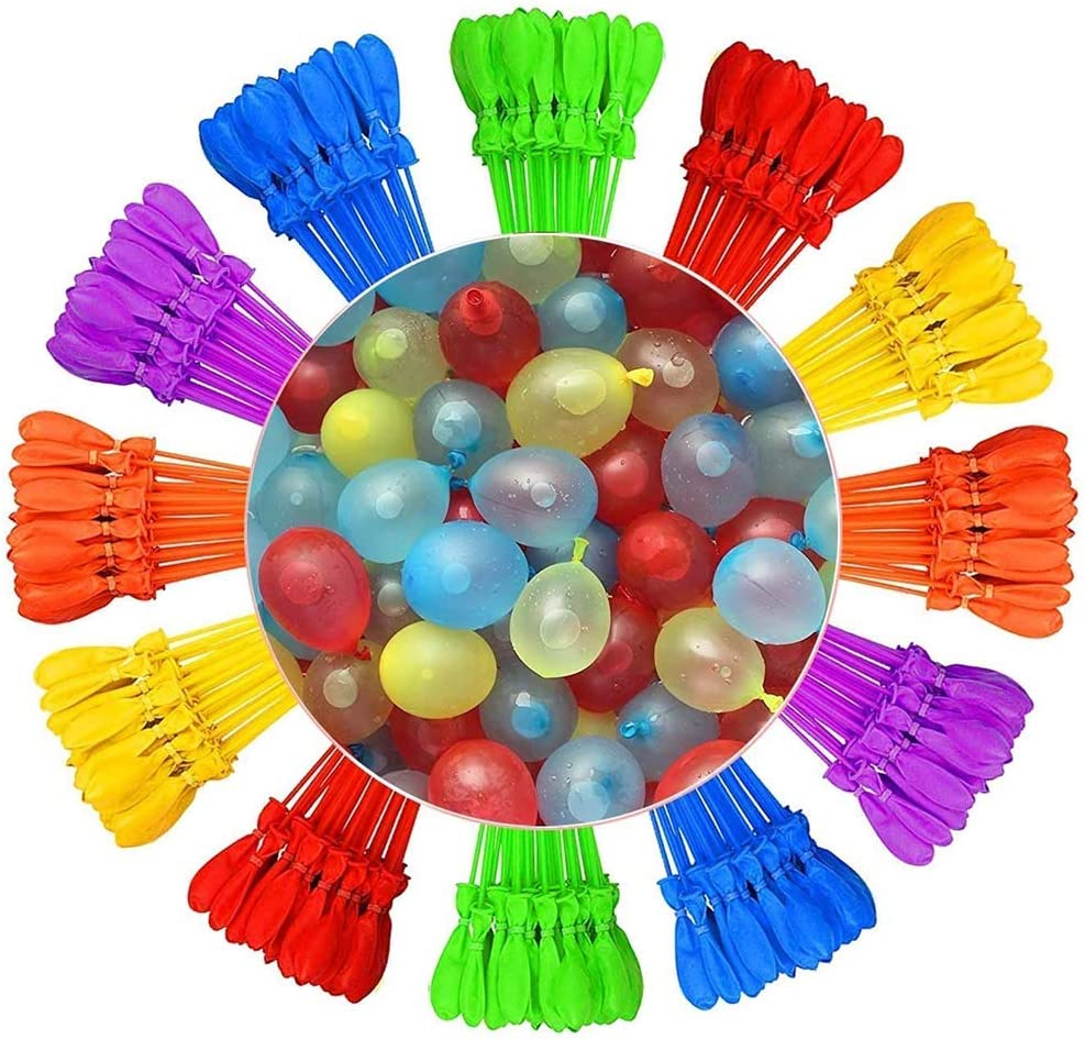 111pcs Pack of 9 Over 333 Water Balloons Summer Childrens Water Toys beige Helmay Imports Fast Self Sealing Instant Water Balloons