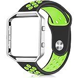 XRENG Fitbit Blaze アクセサリーバンド 柔らかくスポーツシリコンバンド Fitbit Blaze対応交換リストバンド(M/L)