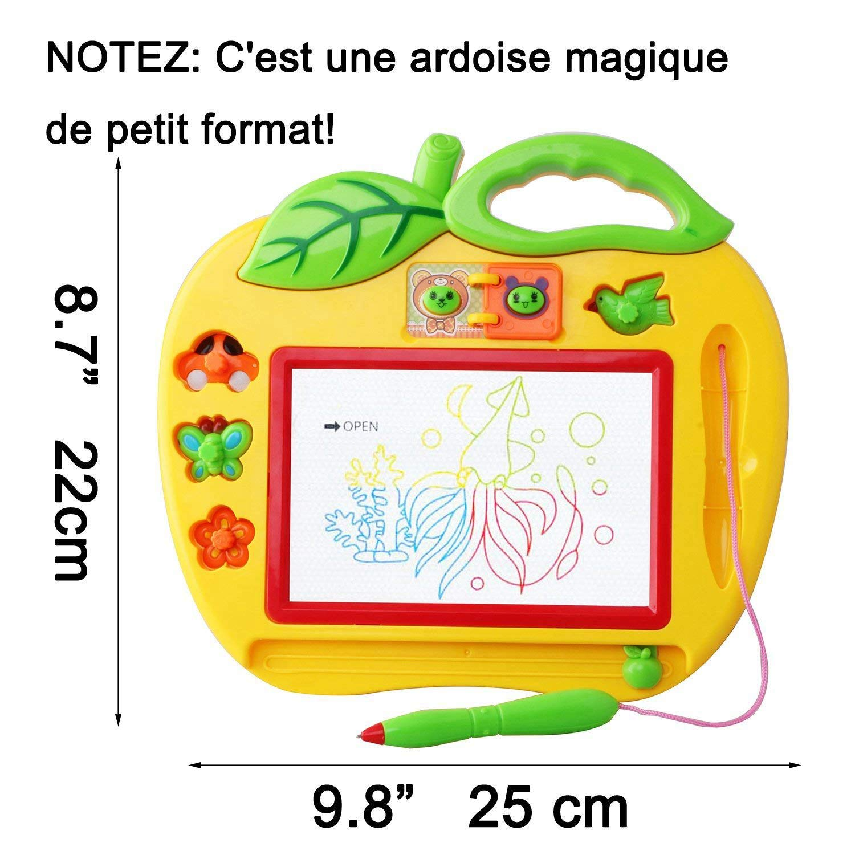 tempo libero educativo creativo semplice giocattolo per ragazza e ragazzo di 18 mesi mini giochi per neonati e bambini 2 e 3 anni 25cmX2 SODIAL Magic Slate colori Piccolo formato con francobolli