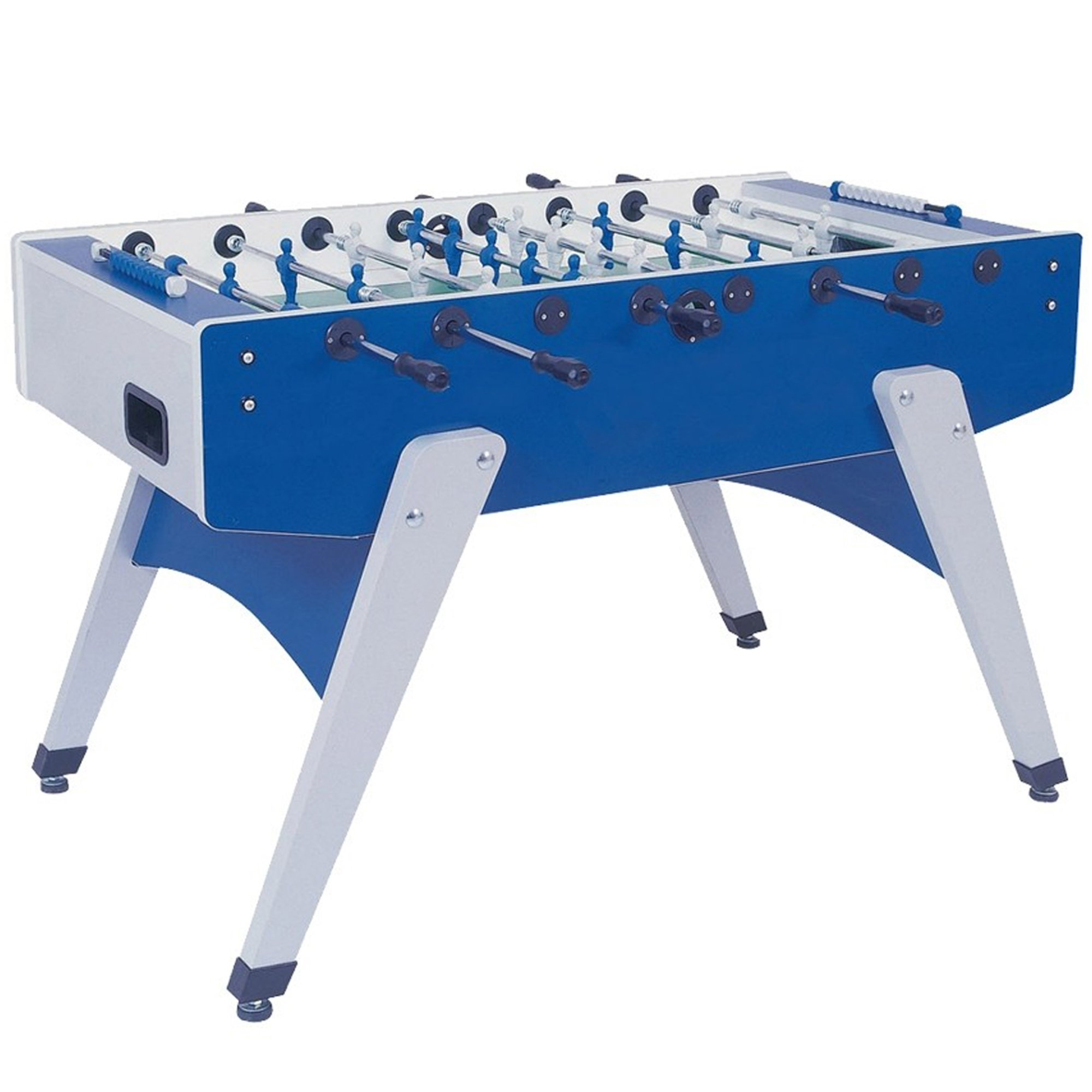 Garlando G-2000 Weatherproof Outdoor Foosball Table with Slanted Legs, Leg Levelers, 10 Standard Balls and Table Cover by Garlando