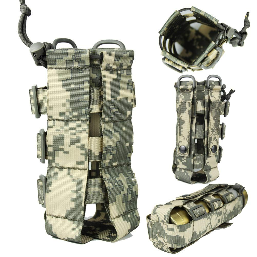 Funda de la Cantina Militar de Oxford para Actividades Al Aire Libre Funda para Viaje Al Aire Libre con Sistema Molle Aesy 0.5L-2.5L Bolsa de Botella de Agua Molle T/áctica
