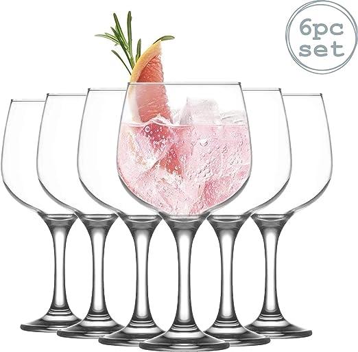 Lav Combinato - Copa para Gin Tonic - Diseño de balón - 730 ml - Pack de 6: Amazon.es: Hogar