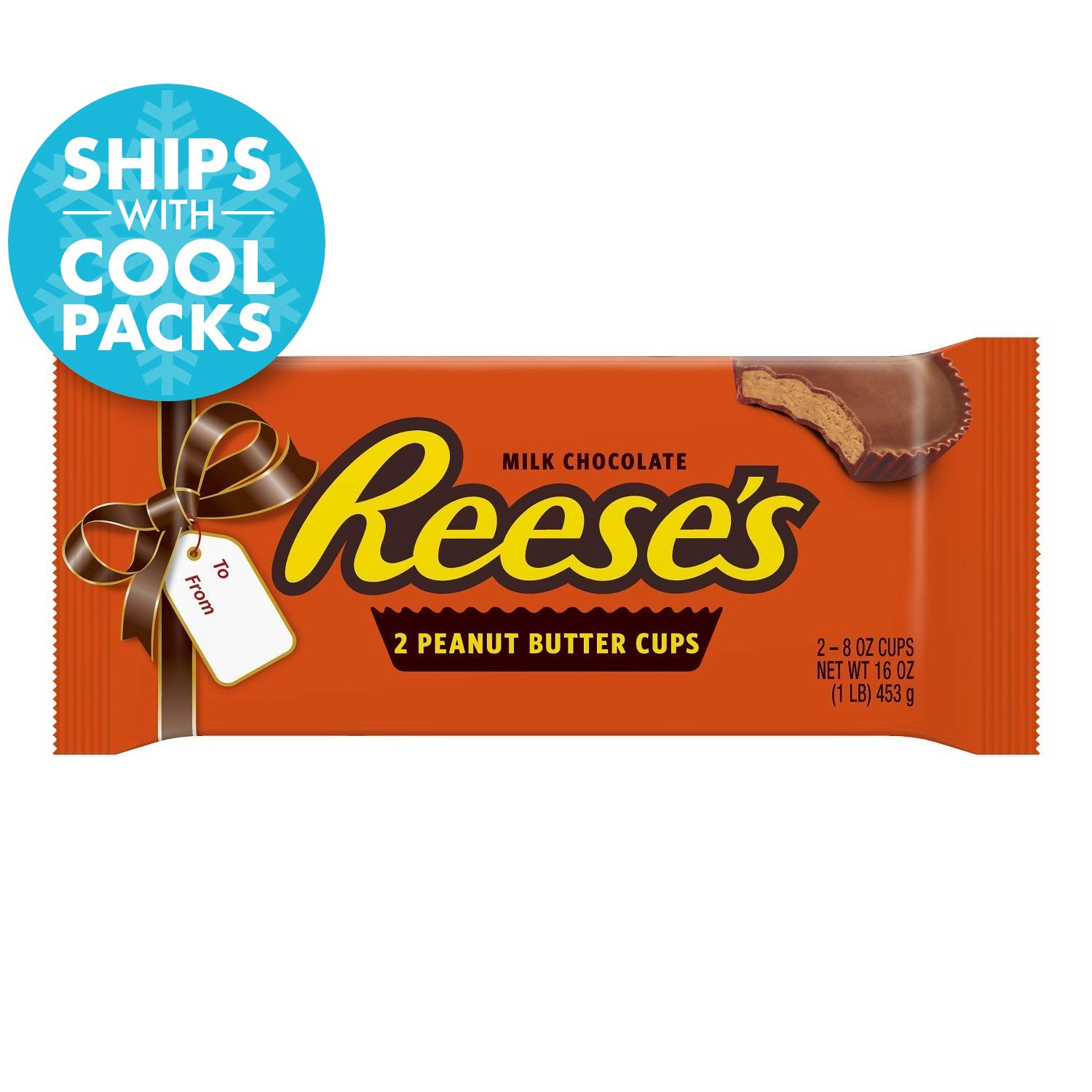 c1fbe8f9885 Amazon.com : REESE'S 1 Pound, Chocolate Candy, Peanut Butter Cups, 1 LB Bar  : Candy And Chocolate Bars : Grocery & Gourmet Food