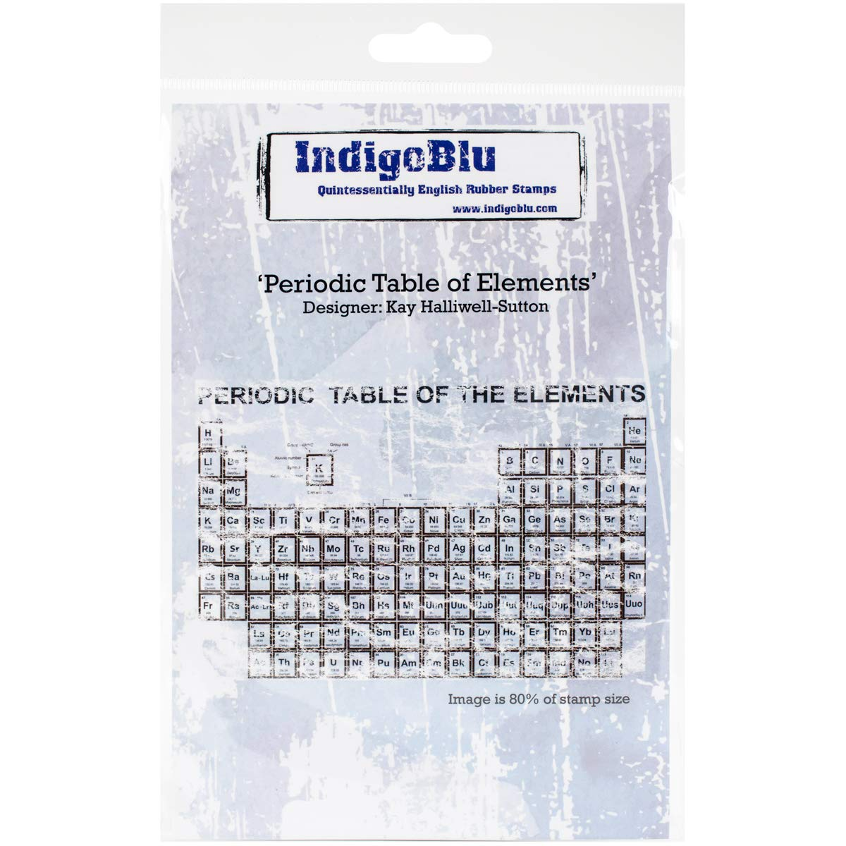 5 x 4 IndigoBluPeriodic Table of Elements Cling Mounted Stamp