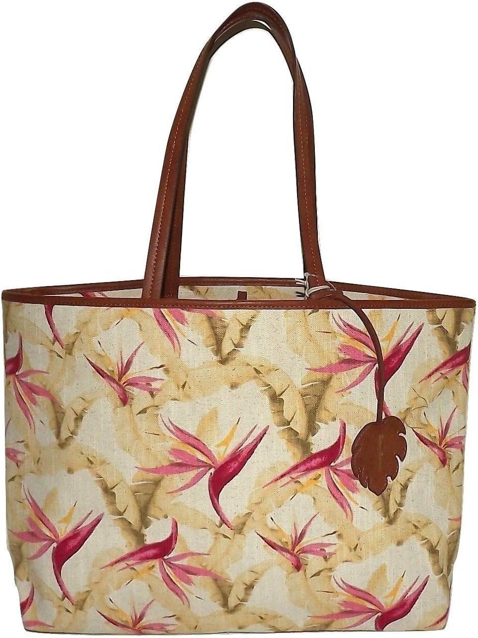 Tommy Bahama Destin Birds of Paradise Top Handle Shoulder Tote//Bag