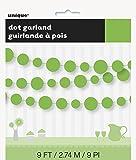 9ft Paper Lime Green Circle Garland
