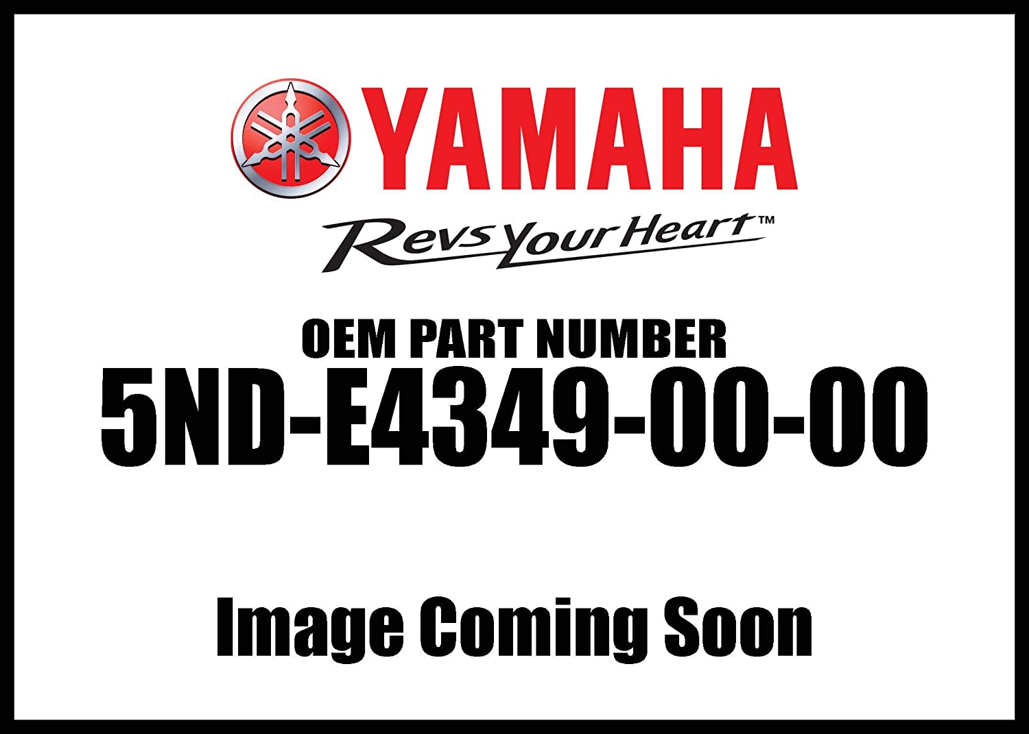 Yamaha 5ND-E4349-00-00 Pipe; ATV Motorcycle Snow Mobile Scooter Parts