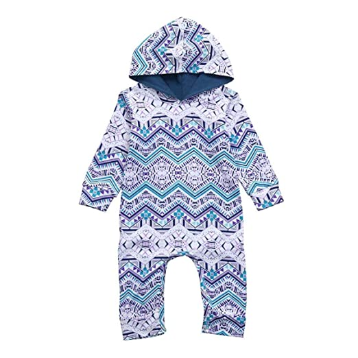 28d539682 Amazon.com  Treafor Hooded Romper Outfit Newborn Kids Baby Boy ...