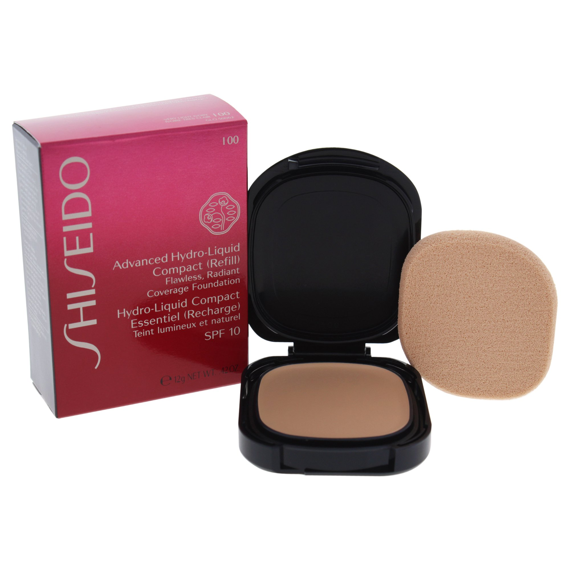 Shiseido Advanced Hydro-liquid SPF 10 Compact Foudation, Very Light Ivory (refill), 0.42 Ounce