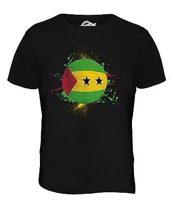 CandyMix São Tomé Und Príncipe Fußball Herren T Shirt, Größe X-Small, Farbe