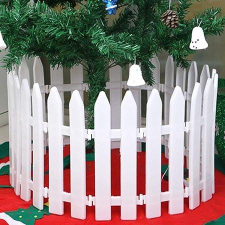 Sairis plástico árbol de Navidad Valla Patio Interior jardín Valla jardín de Infantes jardín de Flores Vegetal Blanco decoración-Blanco: Amazon.es: Hogar