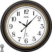 AMS f5978de Radio Reloj de Pared, Madera, 46x