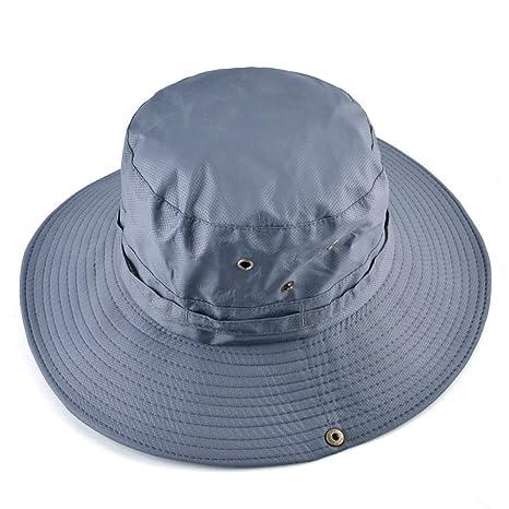 08d4825c Amazon.com : ALWLj Unisex Summer Bucket Hats Outdoor Fishing Wide Brim Hat  Uv Protection Cap For Men Women Hiking Hats : Sports & Outdoors