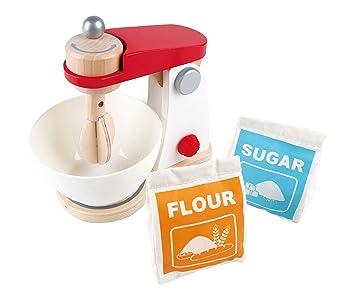 Amazon.com: Hape White Wooden Kitchen Mix & Bake Blender Toy ...