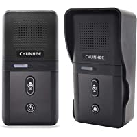 ChunHee Wireless Intercom Doorbell for Apartment, Intercomunicador Waterproof Electronic Doorbell Chime for Home Office…