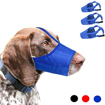 RockPet Bozal para Perro, 1 Set de 3 Bozales de Perros Ajustables de Nylon para