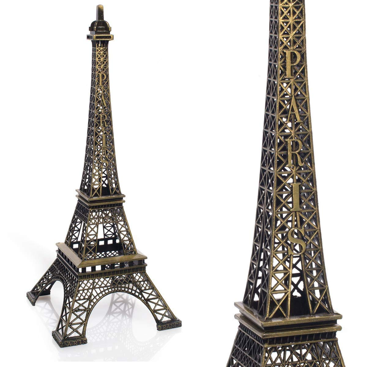 TCDesignerProducts Gold Resin Eiffel Tower Centerpiece, 15 Inches High, Paris Themed Table Decoration