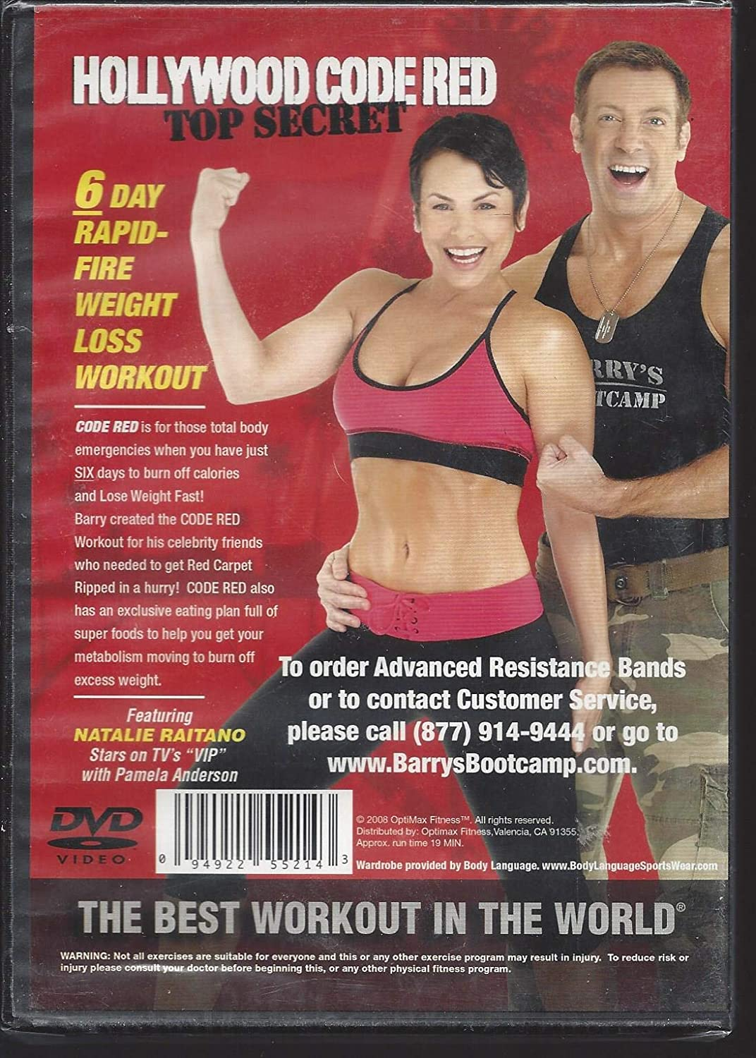 Amazon Com Hollywood Code Red 6 Day Rapid Fire Weight Loss Workout