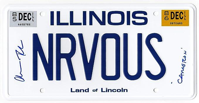 Alan Ruck Signed Ferris Bueller's Day Off 'NRVOUS' Illinois