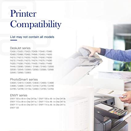 ZET Remanufactured Ink Cartridges Replacement for HP 60XL for Photosmart C4780 C4795 C4680 D110 D110a Black, 2 Pack Envy 100 110 120 Deskjet F4480 F4280 F4580 D2530 D2545 D2680 F4280 F2430 F4210