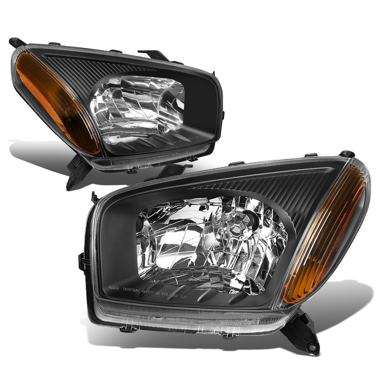 DNA MOTORING HL-OH-101-BK-AM Headlight Assembly Driver And Passenger Side